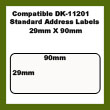 Compatible Brother DK-11201 White Standard Address Labels 29 x 90mm ( Non-Original )