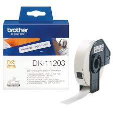 Brother DK-11203 White File Folder Labels