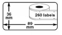 Dymo 36x89mm (99012) Large Address Labels