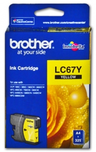 BROTHER INK LC67HYY Yellow HI YIELD